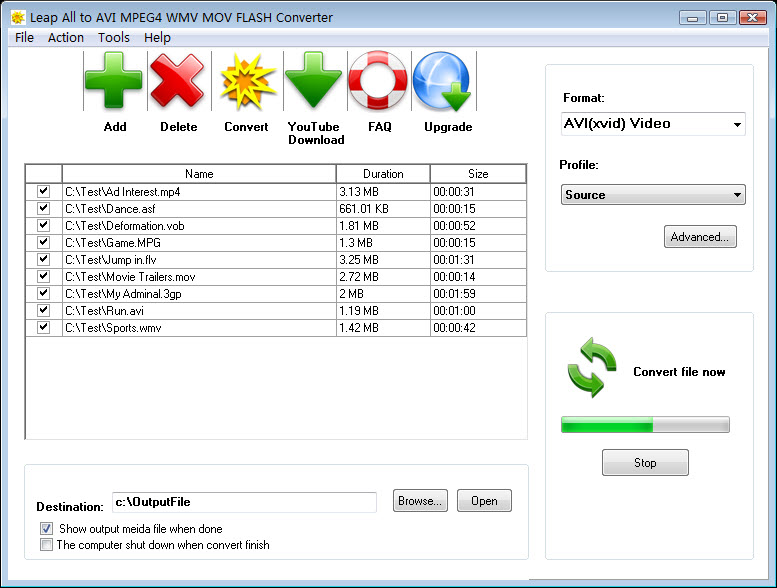 Leap All to AVI MPEG4 WMV Converter