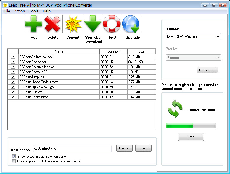 Leap Free All to MP4 3GP iPod Converter