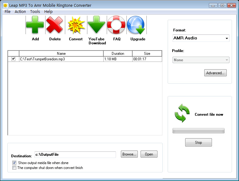 Convert MP3 to AMR,OGG